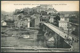 Entrée De La Salvetat Par Le Pont Monumental Jeté Sur L'Agout, Via St-Pons - Voir 2 Scans - La Salvetat