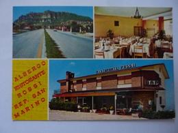 """Cartolina """"Albergo Ristorante ROSSI Repub. San  Marino"""" Anno '60 - Saint-Marin"""