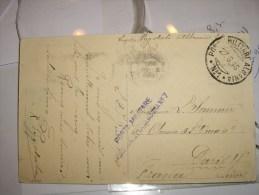 ITALIE ITALIA ITALY -ALBANIE 27/06/1916  Poste Militaire-pour La   FRANCE-cachet D Arrivée - 1900-44 Vittorio Emanuele III