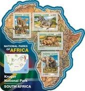 SIERRA LEONE 2016 SHEET NATIONAL PARK SOUTH AFRICA WILDLIFE Srl16515a - Sierra Leone (1961-...)