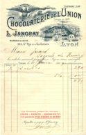 JANORAY   Chocolaterie De L'Union   LYON  1904   Belle Illustration - 1900 – 1949