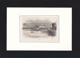 Paris - Gravure 1836 Adolphe Best - Pont - 10 X 14.5 Cm - Verso Vierge - Vieux Papiers