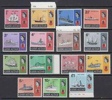 Gibraltar 1967 + 1969 Definitives / Ships 15v ** Mnh (41489) - Gibraltar