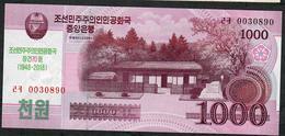 KOREA NORTH PCS21  1000 WON 2018 70th ANNIV.    UNC. - Korea, Noord