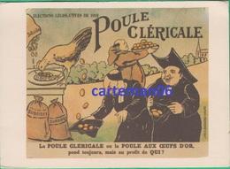 Politique - CPM - Elections Législatives 1912 - Poule Cléricale - Coll Albin Vandam - Goossens Bruxelles - Partidos Politicos & Elecciones