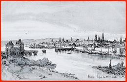 CPA 76 ROUEN à La Fin Du XVIe Siècle Par L' Illustrateur ROBIDA - Rouen