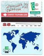 Salon GENEVA TELECOM 95 COURTESY CARD 25u MINT URMET NEUVE - Tests & Service