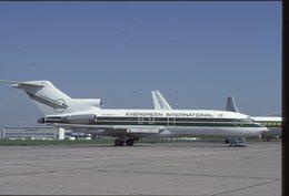 SLIDE / AVION / AIRCRAFT   KODAK  ORIGINAL  EVERGREEN INTERNATIONAL  B 727 N725EV - Diapositives