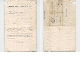 1880 Document Rare De L'HÔPITAL St LOUIS Signalant Un Décès Avec Obligation D'enlèvement Du Corps Dans Les 24 Heures - Timbres