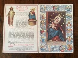 SANTINO - Holy Card 1942 - MADONNA Di POMPEI , Preghiera 2a Pasqua Guerra - Religione & Esoterismo