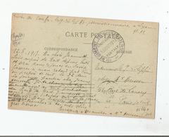 LYON (RHONE) CARTE AVEC CACHET MILITAIRE 10 E REGIMENT DE CUIRASSIERS FRANCHISE 13 AOUT 1917 - Guerra Del 1914-18