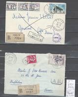 France  Lettres Recommandées Avec Cachet AR Sur Les Timbres - 2 Piéces - Postmark Collection (Covers)