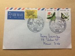 AUSTRALIA 1986 Air Mail Cover - Noora Kuneena Brisbane Handstamps - 1980-89 Elizabeth II
