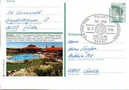 "BRD Bildpostkarte 80 Pf.WSt.Sehenswürdigkeiten Zeche Zollern P151 X 7/95 ""Saulgau"" SST 12.3.94 FULDA 1 - [7] Repubblica Federale"