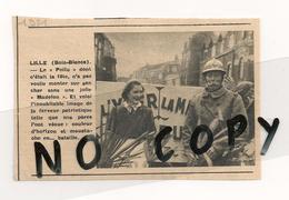HISTOIRE DE LILLE LES BOIS BLANCS. ARTICLE DE LA REVUE NORD FRANCE DE 1951. CORTEGE PATRIOTIQUE 1914 1918. - Documents Historiques