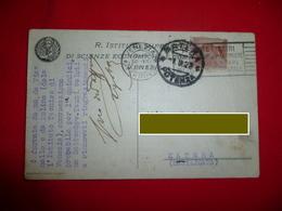 Cartolina R. Istituto Superiore Di Scienze Economiche E Commerciali Venezia 1923 Veneto - Venezia