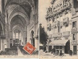 ROYAN - 2 CPA : Le Royal Hôtel - Intérieur De L'Eglise Notre Dame - Royan