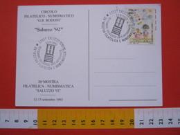 A.01 ITALIA ANNULLO - 1992 SALUZZO CUNEO ARTIGIANATO MOBILI ARTE CREDENZA LAVORO LEGNO - Altri