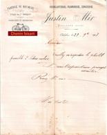 Document Du 23/09/1907 JUSTIN MIR Travaux Bâtiment, Cycles - Chalabre 11 - France