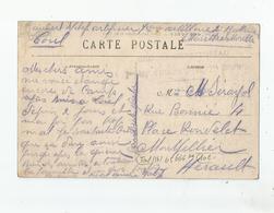 TOUL (54) CARTE AVEC CACHET MILITAIRE GROUPE TERRITORIAL 7 ME REGT D'ARTILLERIE A PIED 2 ME BATTERIE - Marcophilie (Lettres)