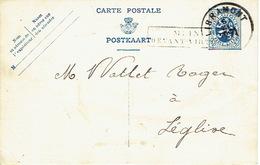 Griffe Encadrée De MEIX DEVANT-VIRTON Sur Entier Postal De 1933 - Marcophilie