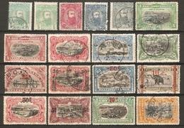 18 Timbres De 1887/1921  ( Congo-Belge ) - Belgisch-Kongo