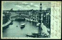 Venezia, Canal Grande Preso Dal Palazzo Grimani Con Il Ponte Di Rialto - Viaggiata 1902 - Rif.  11680 - Venezia