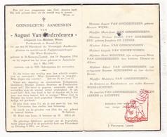 DP Postbode † Ongeval - August Van Ginderdeuren ° Sint-Kwintens-Lennik 1916 † Anderlecht 1947 X M. Wijns / Vlezenbeek - Images Religieuses