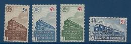 "FR Colis Postaux YT 212 à 215 "" Avec Filigrane "" 1944 Neuf* - Paketmarken"