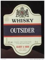 Etiquette  Whisky    -   Outsider  -  Galibert Et Varon  Jarnac  (16) - Whisky