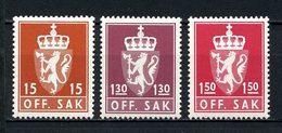 NORVEGE 1981 Service N° 107/109 ** Neufs MNH Superbes C 4 € Armoiries Coat Of Arms Couronne Faune Lion Animaux - Service