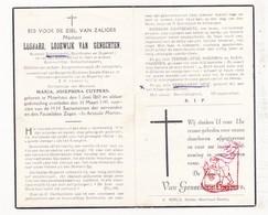 DP Schoolmeester Koster Organist - Leonard L. Van Genechten ° Meerhout 1865 † 1949 X M. Cuypers / Bekkerzeel - Images Religieuses