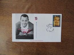COLUCHE PREMIER JOUR 17 SEPTEMBRE 1994 1944-1986 PARIS - Marcophilie (Lettres)