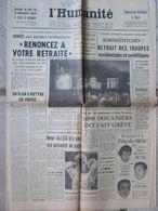 Journal L'Humanité (9 Août 1957) Bourgès Aux Anciens Combattants - Douaniers En Grève - H Alleg - Journaux - Quotidiens