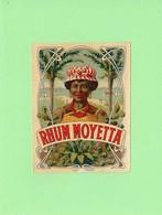 Etiquette Rhum MOYETTA  ( Imp. L.& B., Cognac ), 10.5x8 Cm, Femme Créole. - Rhum
