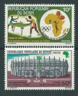 Bénin  N° 386 / 87 X Jeux Universitaires De L'Afrique De L'Ouest à Cotonou, Les 2 Valeurs  Trace De Charnière Sinon TB - Bénin – Dahomey (1960-...)