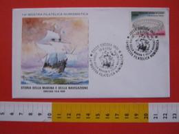 A.01 ITALIA ANNULLO - 1990 OMEGNA NOVARA VERBANIA STORIA DELLA MARINA E DELLA NAVIGAZIONE VELIERO NAVE NAVY - Barche