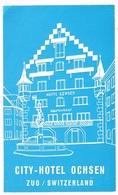 CITY-HOTEL OCHSEN ZUG Ca. 1940 Etiquette De Bagages - Hotel-Etikette - Suisse - Schweiz - Etiquettes D'hotels