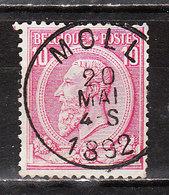 46  Oblitération Centrale MOLL - LOOK!!!! - 1884-1891 Léopold II