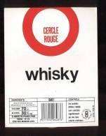 Etiquette De Whisky  -  Cercle Rouge  -  Paridoc à  Rueil Malmaison  (92) - Whisky