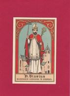Neogotische Devotieprent  H. Blasius - Godsdienst & Esoterisme