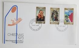 1973 New Zealand, FDC, Christmas, Philatelic Buro Wellington - FDC