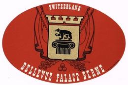 HOTEL BELLEVUE PALACE BERN Ca. 1940 Etiquette De Bagages - Hotel-Etikette - Suisse - Schweiz - Etiquettes D'hotels