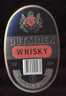 Etiquette De Whisky  -  Outsider  -  Galibert Et Varon  à  Jarnac  (16) - Whisky