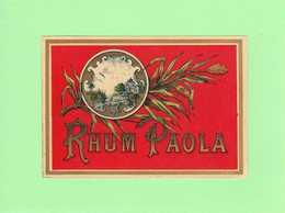 Etiquette Rhum Paola, 8.5x12.5 Cm - Rhum