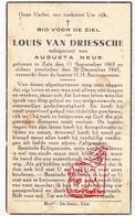 DP Louis Van Driessche ° Zele 1863 † 1943 X Augusta Neus - Images Religieuses