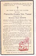 DP Petronilla A. Van Tassel ° Sint-Gillis 1873 † St.-Pieters-Leeuw 1944 X K. Severs - Images Religieuses