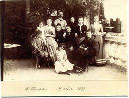 Photo Albuminée Sur  Carton -  Gard - Saint Christol Les Alès -photo De Famille  Du  17 Aout 1889 - Photographs