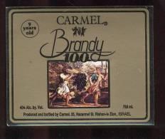 Etiquette De   Brandy  100  -  Carmel - Etiquettes