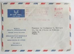 1959 Brazzaville Congo-Paris France, Air Mail, Par Avion - Congo - Brazzaville